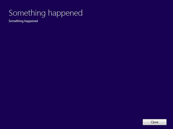 something happend