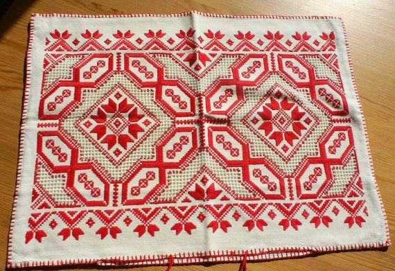 Wonderful Transylvanian embroidered pillow for by NeedleandMagic