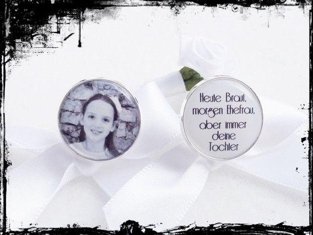 Bräutigam -  Manschettenknöpfe-mit ihrem Foto,Text! Brautvater - ein Designerstück von bestchoice bei DaWanda