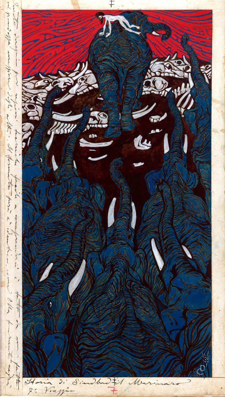 Duilio Cambellotti (Italian, 1876-1960) Arabian Nights, 1912