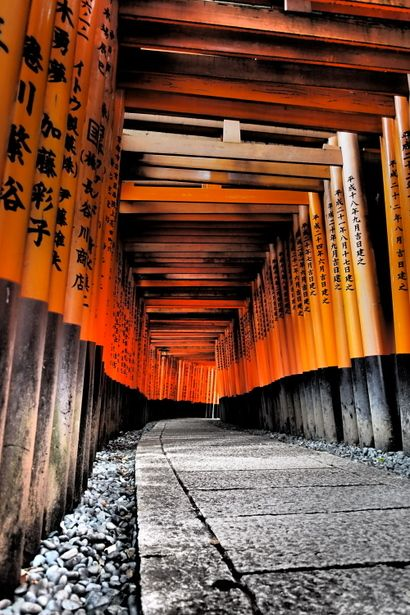 Torii gates at Fushimi Inari Taisha shrine, Kyoto, Japan