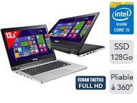 Transformer Book Flip TP300LD-C4017H - Ordinateur Portable Tactile convertible 13,3'' Full HD - Intel Core i5-4210U (1,7 GHz) - SSD 128 Go - RAM 4 Go - NVIDIA GeForce 820M - Windows 8.1