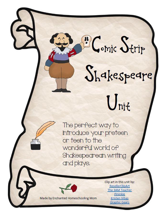 Comic Strip Shakespeare Unit - Enchanted Homeschooling Mom