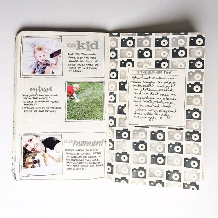 Check out our blog today for Julie's @julieloveg #travelersnotebook album progress through lesson four, along with contributor albums (like @catsaunders gorgeous 4x4 book!). | Pages made using Photo Grid App (for the 2x2 photos) stamps from @studio_l2e and #kelliestamps  Julie