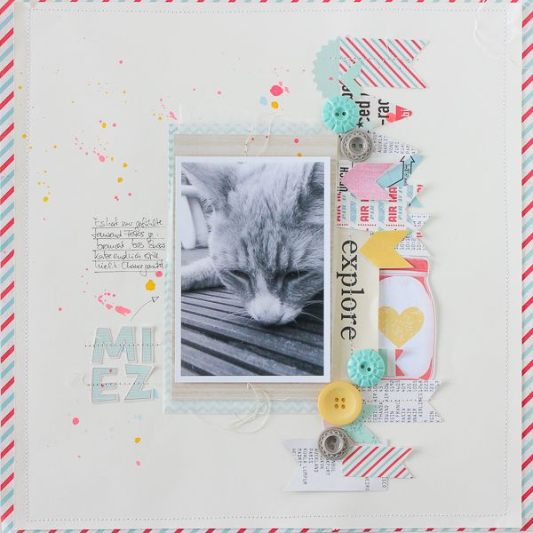 #scrapbooking page by Janna Werner, original layout by Nina Ostermann