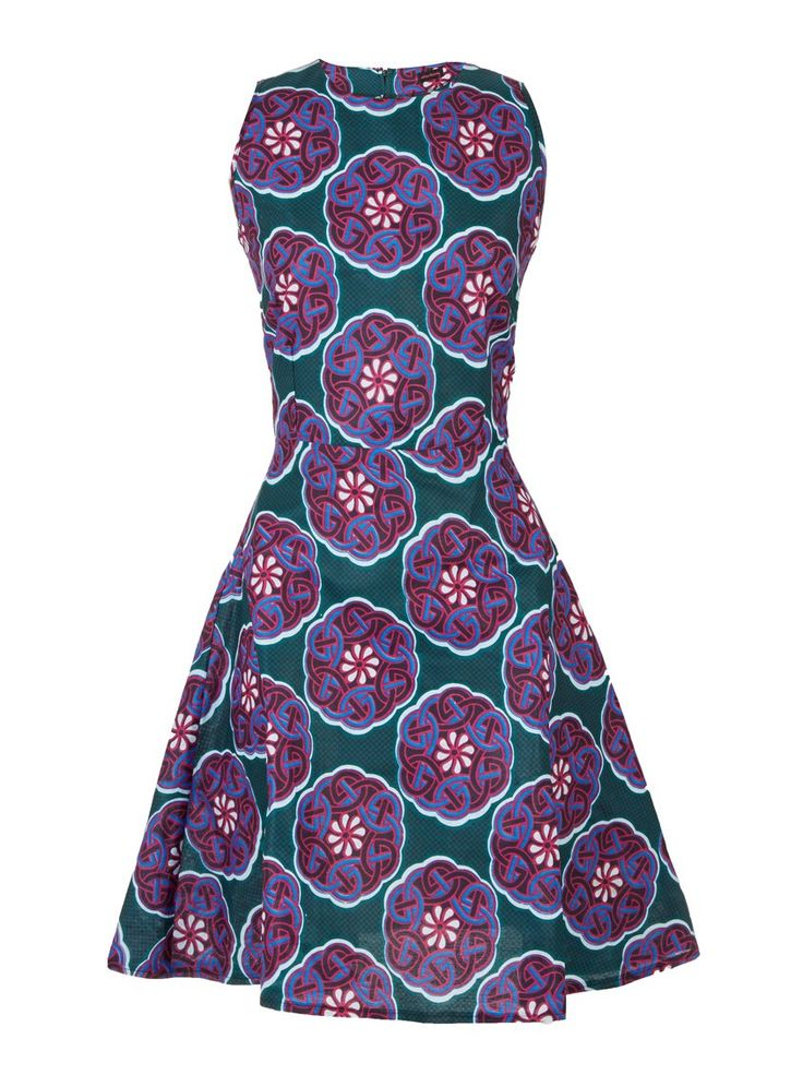 Dart-Print Cami Dress Multi-Colour