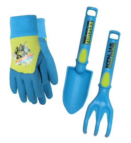 Very sturdy plastic great for kids.  The gloves are a little big.  Probably sized for a 5 year old.