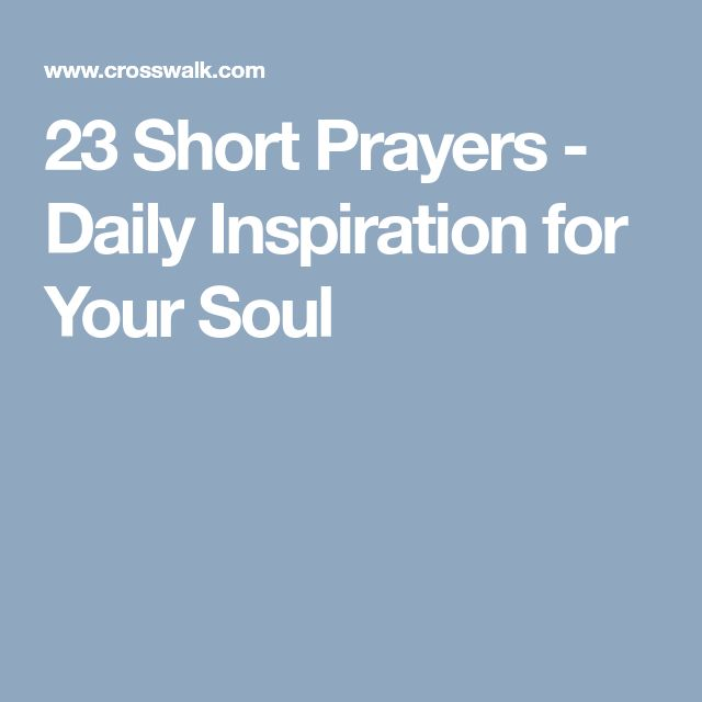 23 Short Prayers - Daily Inspiration for Your Soul