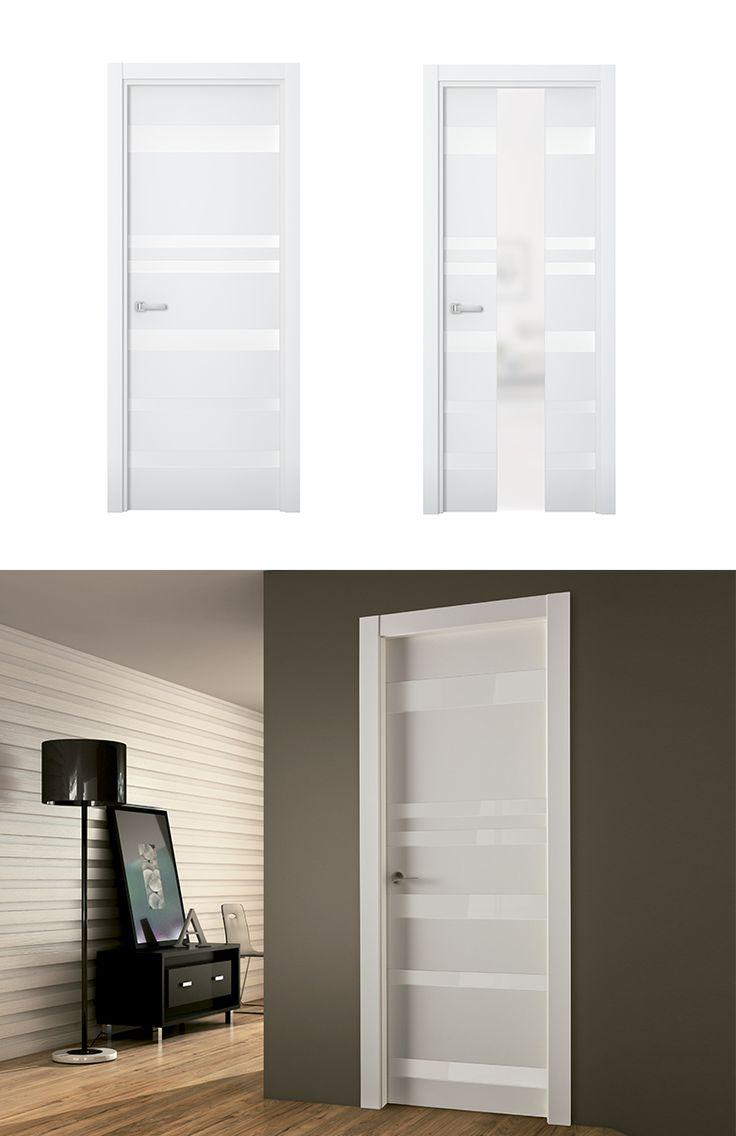 Puerta de interior blanca modelo nike de la serie imagin - Puertas blancas de interior ...