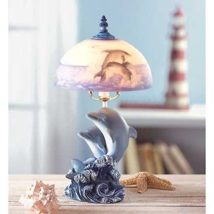 Dolphin Lamp | $49.95 | Lexi's Kreationz, LLC | http://lexiskreationz.storenvy.com/products/967537-dolphin-lamp