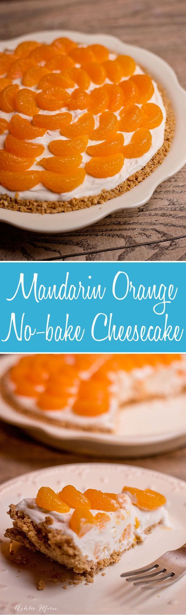 No bake cheesecake is easy to make and tastes amazing, adding mandarin oranges is a sweet addition that makes it even better DoleCannedFruit AD /DolePackaged/