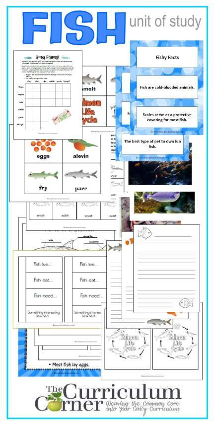 Fish Unit of Study |Science Notebook Pages | Photos | Lined Paper | Fact