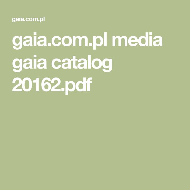 gaia.com.pl media gaia catalog 20162.pdf