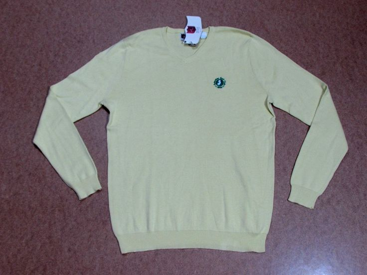 ILIAC GOLF YELLOW SUBURBAN GOLF CLUB SWEATER ON SALE NOW...HIGH END men's athletic GOLF wear at LOW END prices! Men's ILIAC GOLF brand is designed by hand by Bert LaMar. We have Golf pants, shirts, shorts, sweaters, jackets and accessories galore at INCREDIBLY low prices! http://stores.ebay.com/realcoutureoforangecounty/