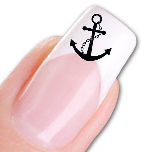Sticker-Gigant Nail Tattoo Sticker Maritim / Marine - Anker blau: Amazon.de: Parfümerie & Kosmetik
