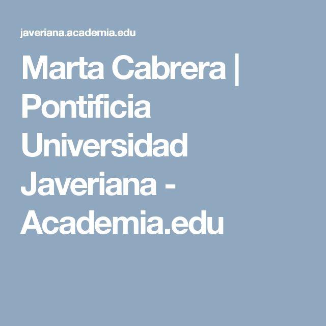 Marta Cabrera | Pontificia Universidad Javeriana - Academia.edu