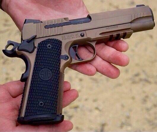 Sig Sauer 1911 Scorpion .45 ACP..needs different grip.