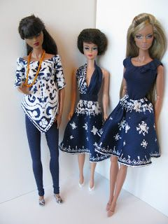 THE FASHION DOLL REVIEW: Turning a silk scarf into some new wardrobe pieces