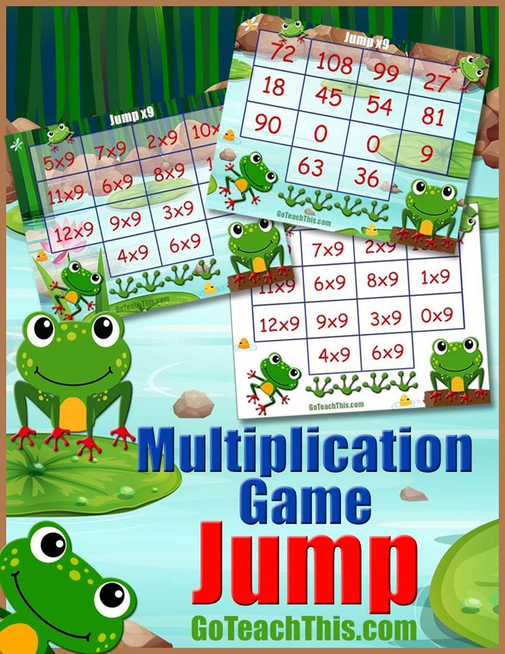 This 'Nine Times Table Jump' game is a collection of 6 Multiplication Game Boards designed to facilitate the learning of the Nine Times Table in an enjoyable way.