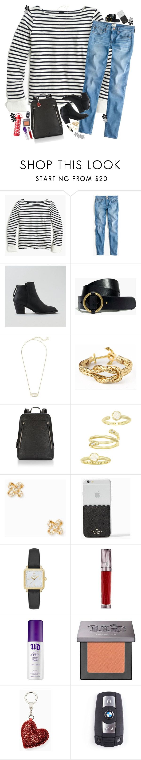 """jeg elsker deg."" by teamboby ❤ liked on Polyvore featuring J.Crew, American Eagle Outfitters, Madewell, Kendra Scott, Kate Spade, Urban Decay, BMW, Lifefactory, SHAN and Hudson Jeans"