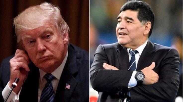US President Donald Trump is a cartoon says Argentina football legend Diego Maradona