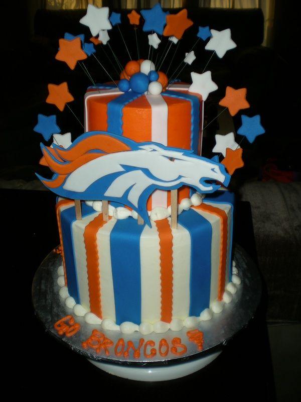 10 Images About Denver Broncos Cakes On Pinterest