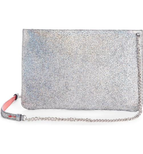 033cfe36d6d Crossbody Loubiclutch Metallic Silver Ab/Silver Leather Clutch in ...
