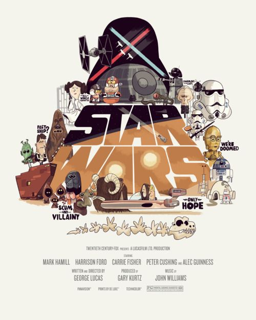 The original Star Wars Trilogy posters have been given a great stylized redesign by Tumblr artist Christopher Lee.