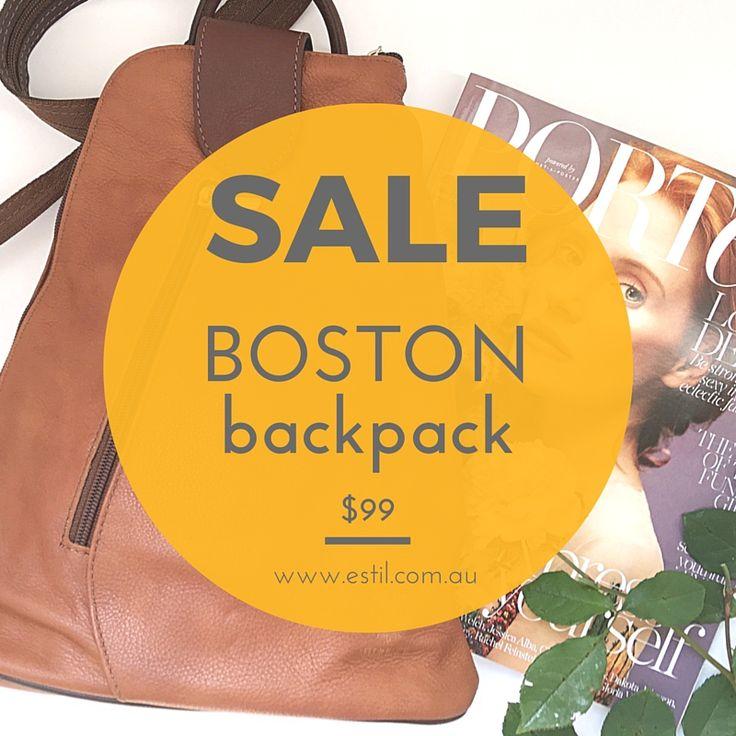 Boston Backpack on sale $99