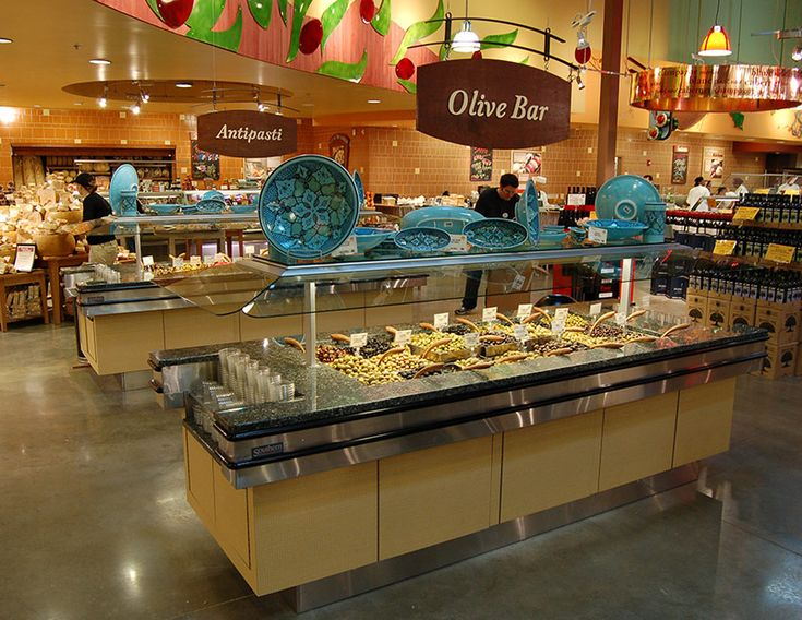 """OVB - Olive Bar Merchandiser:  The OVB from Southern is a food bar specifically designed to optimally and efficiently merchandise olives. Its narrow footprint allows it to be placed in nearly any size store, turning previously dead floor space into a profit center and dramatically increase your sales per square foot. At 50"""" wide, the OVB is available in various lengths and may be personalized with a large array of optional materials and finishes."""