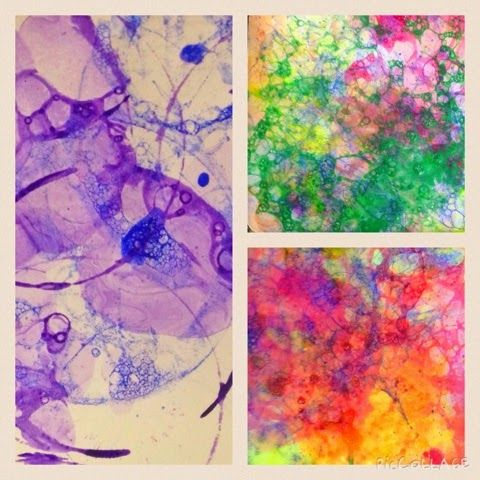 WEST MIDDLETON ART SMARTIES: Art Club: Bubble Prints (tempera, dish soap, water, straws, drawing paper)