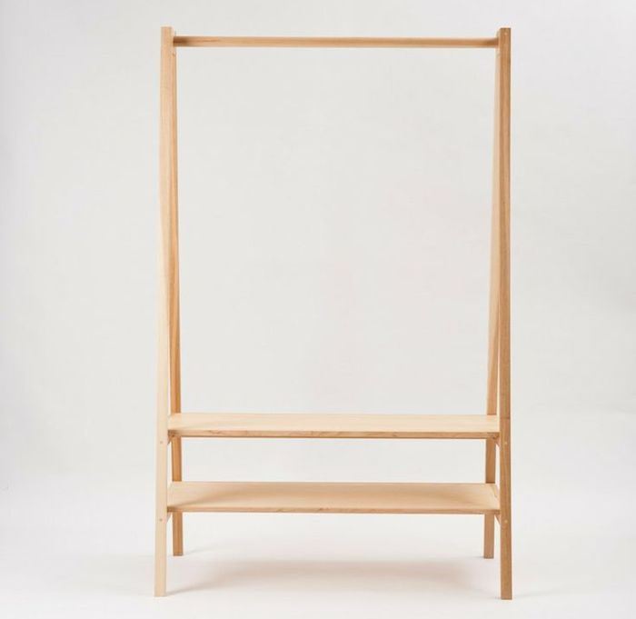 The humble wooden clothing rack is a design-worthy addition to your entryway or boudoir: here are 10 we've bookmarked recently. Above: A rack with storage
