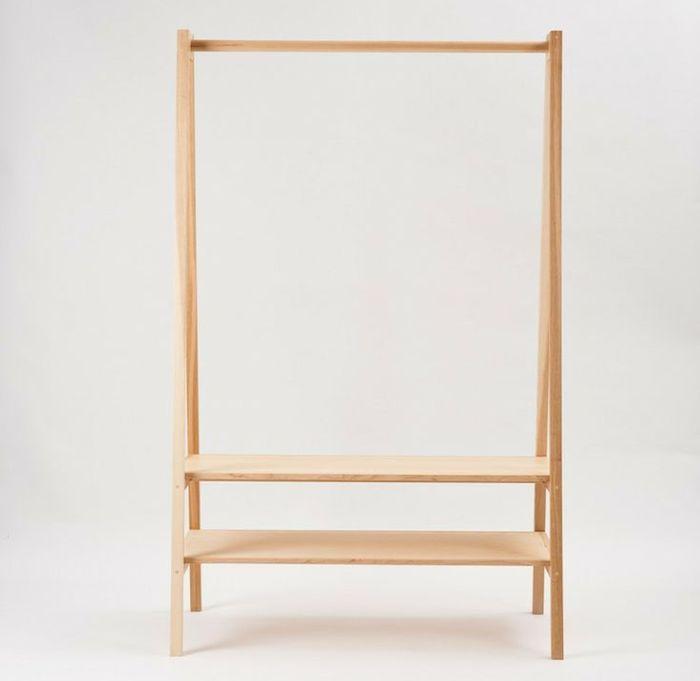 Douglas and Bec Wooden Garment Rack | Remodelista