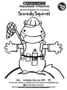 Scaredy Squirrel On Dvd Coloring Sheet Kids Printables Scholastic Storybook Treasures