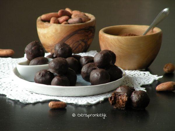 Zacht zoet en romig, chocolade truffels