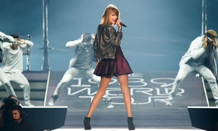 Taylor Swift on her 1989 world tour in Bossier City, Louisiana, in May 2015.