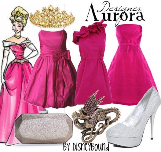 "Disney Princess Sleeping Beauty ""Aurora""-inspired Designer dresses.   Disney Bound."
