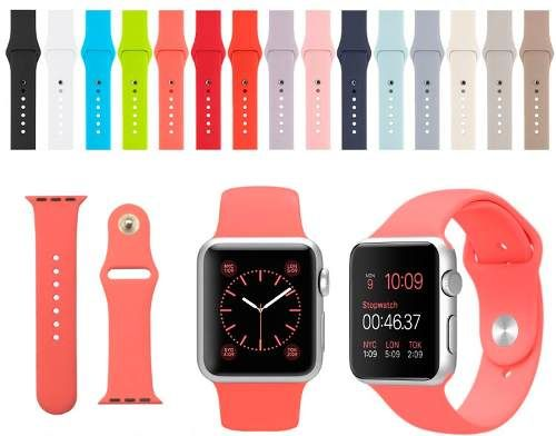 correa deportiva sport band apple watch 38mm varios colores