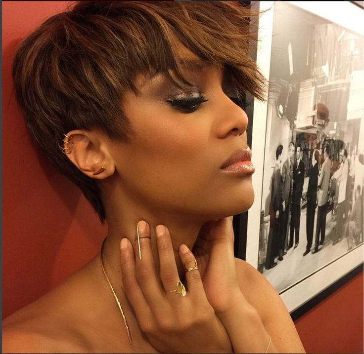 Cool 1000 Ideas About Tyra Banks Short Hair On Pinterest Farah Fath Short Hairstyles Gunalazisus
