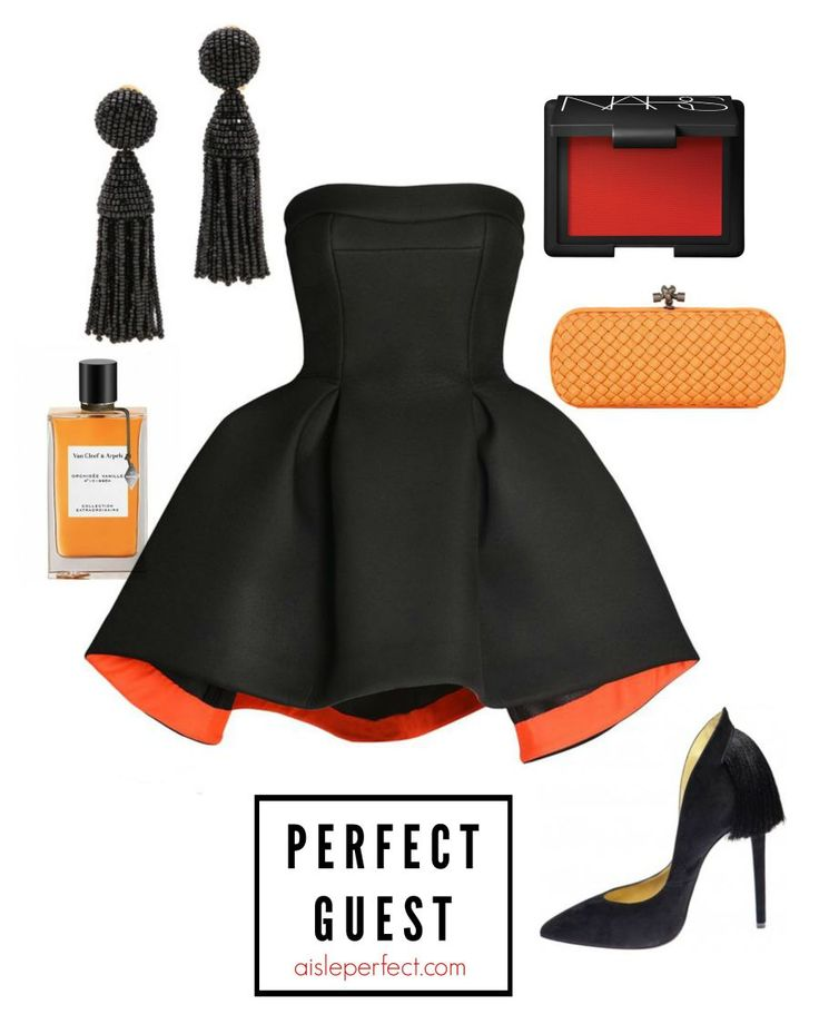 how to wear black to a wedding - aisleperfect