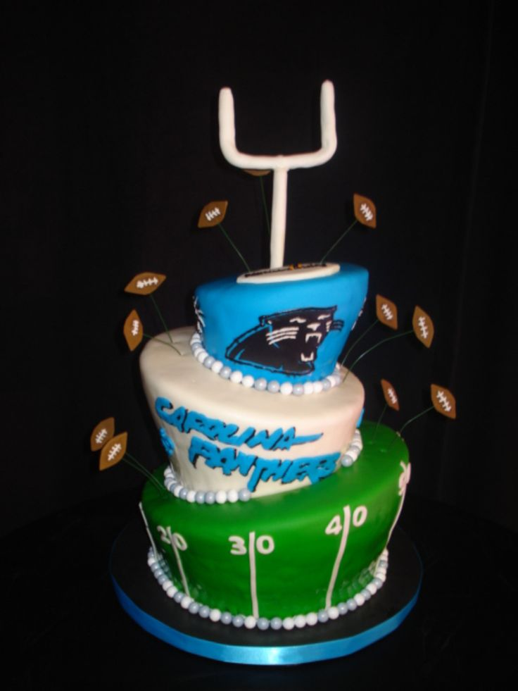 25 Best Ideas About Carolina Panthers Cake On Pinterest