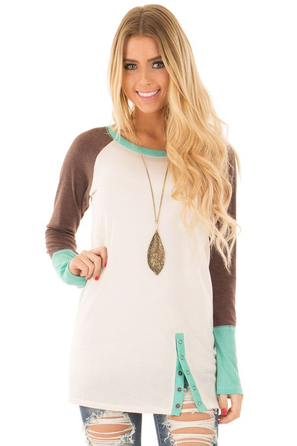 Lime Lush Boutique - Ivory and Mint Sweater with Coco Sleeves, $29.99 (http://www.limelush.com/ivory-and-mint-sweater-with-coco-sleeves/)#lovefashion #new #Spring #fashionblog #instafashion #photomodel #beauty #trend #queen #day #us #follow #girl #dress #princess #look #lookbook #like #beautiful #cute #sexy #iphonesia