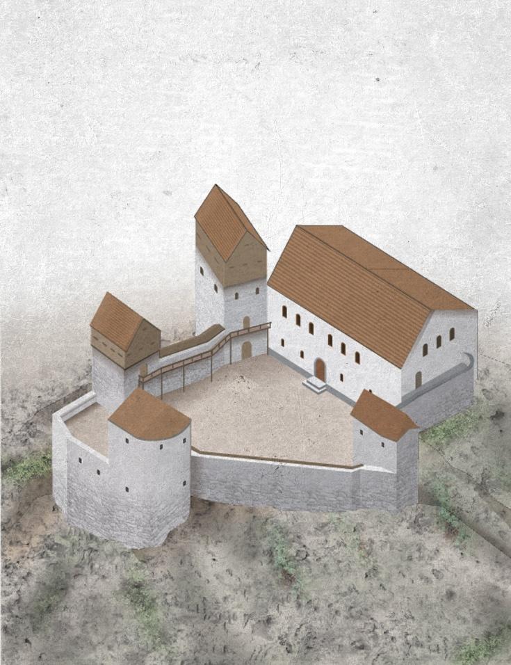 Hörningsholm Castle is a castle in Sweden. Wikipedia: Hörningsholm är ett slott på norra Mörkö i Mörkö socken, söder om Södertälje i Sörmland i östra Svealand.  Hörningsholm är strategiskt beläget högt på ett klippavsats intill Borgsundet med utsikt över Södertäljeleden. Läget gjorde att platsen befästes redan under 1200-talet. På 1400-talet uppfördes där ett slott som, tillsammans med stora delar av Sörmlands kust, brändes ned av ryska trupper år 1719.