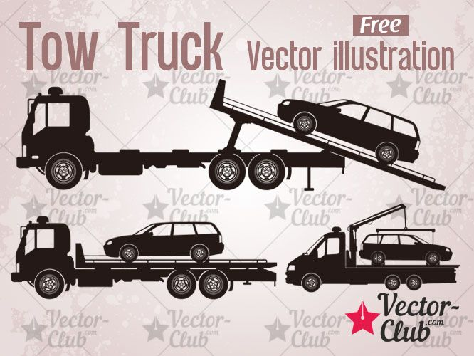 Tow Truck Vector Illustration With Images Tow Truck Vector