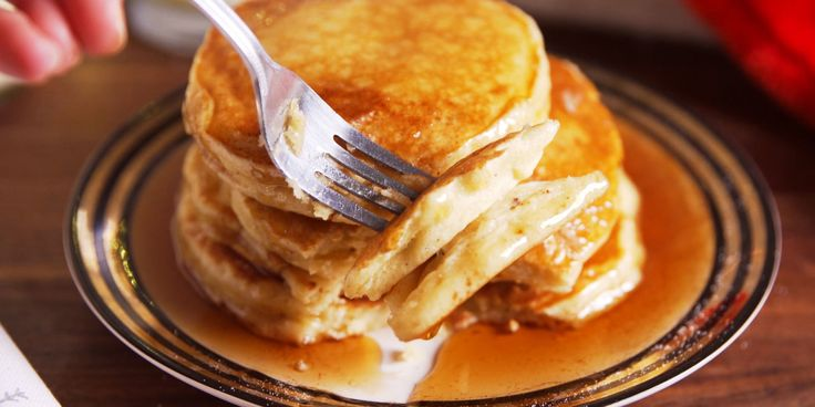 Start your day the festive way with these eggnog pancakes.