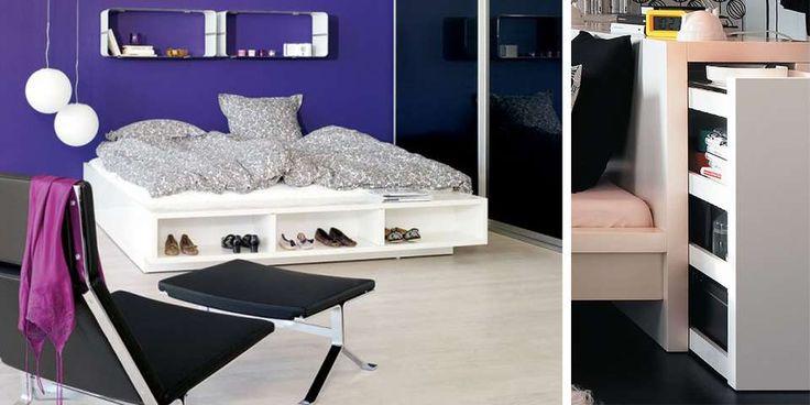 GJEMM VEKK: Møbler med skjult oppbevaring er et must i kompakte rom.