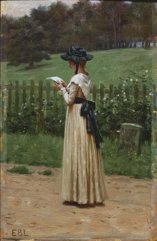 """The Love Letter"" - Edmund Blair Leighton (British, 1852-1922)"