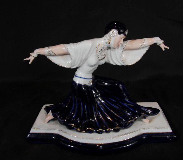 Dresden Porcelain Deco Dancer Figurine