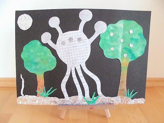 Kunst: Frottage-Collage in der Grundschule