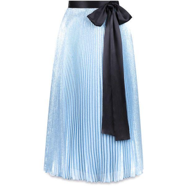 25  best ideas about Blue pleated skirt on Pinterest | Long summer ...